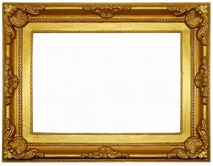Antique style gold color frame (with clipping pass)