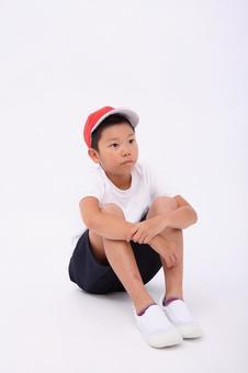Triangular sitting child 2
