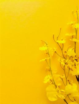Background material with bright yellow