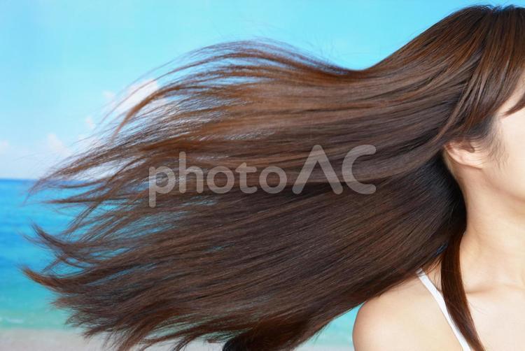 女性 ロングヘアの写真