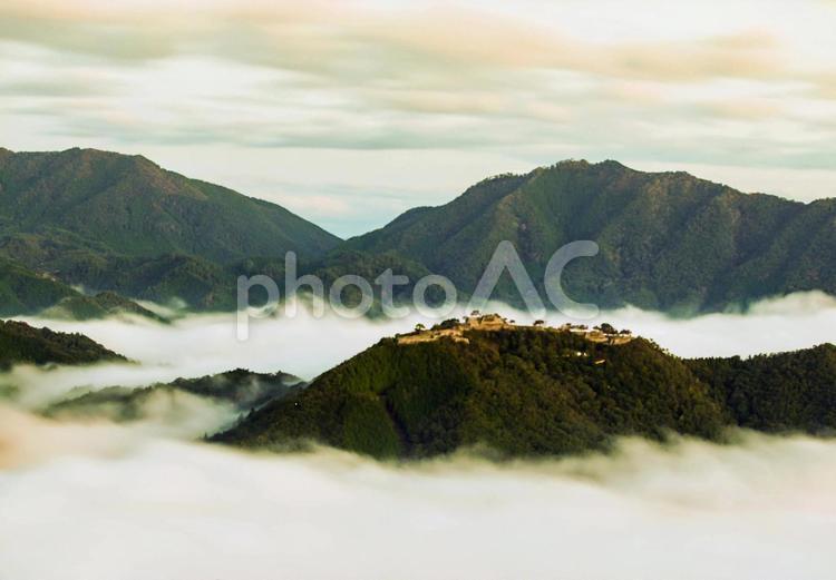 竹田城跡の雲海の写真