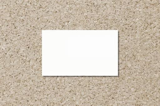 Business Card Card Cork Sepia