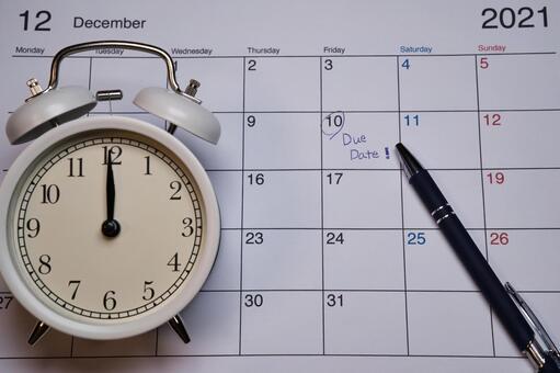 出産予定日とカレンダー