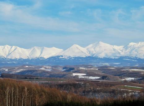 Hokkaido early spring mountains