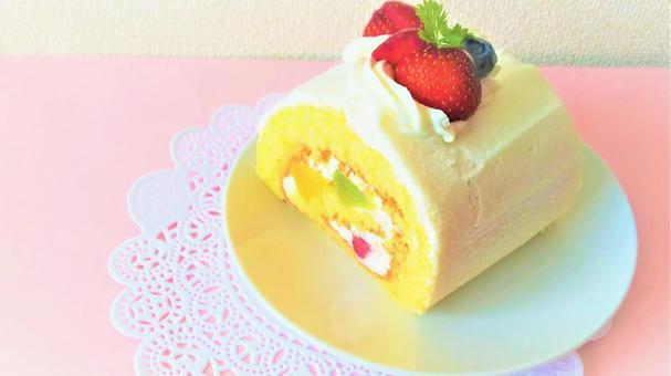 fruit roll cake