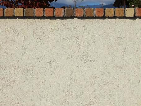 Sand wall and brick