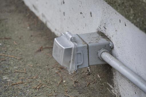 벽에 설치된 옥외 콘센트 노스 밴쿠버 브리티시 컬럼비아 캐나다