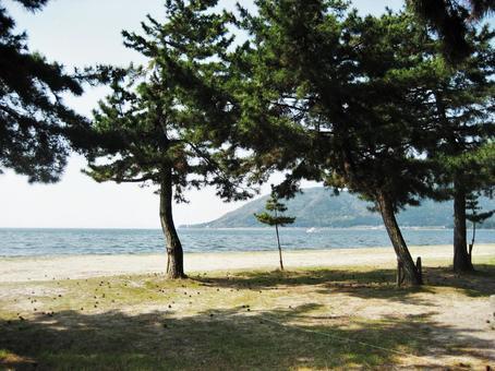비와코 캠프 近江舞子 해안