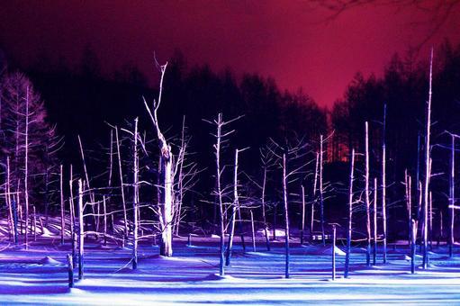 Biei's Blue Pond Light Up