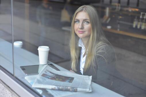 Coffee shop woman 4