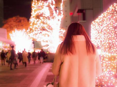 Shinjuku / Christmas Illuminations / Alone