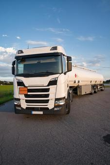 Long haul truck loaded with fuel
