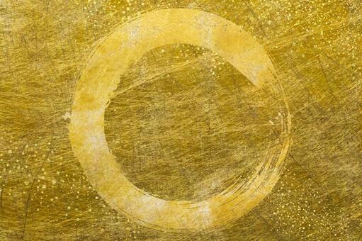 Gold Japanese paper_Brush circle_Gold confetti