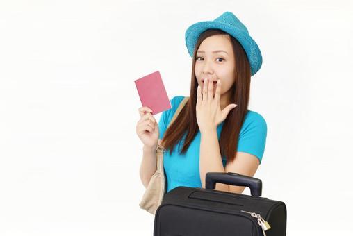Women travel passport