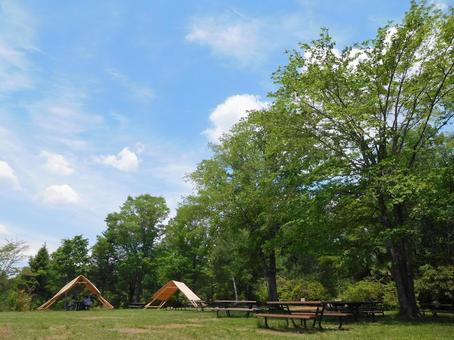 Outdoor campground scenery