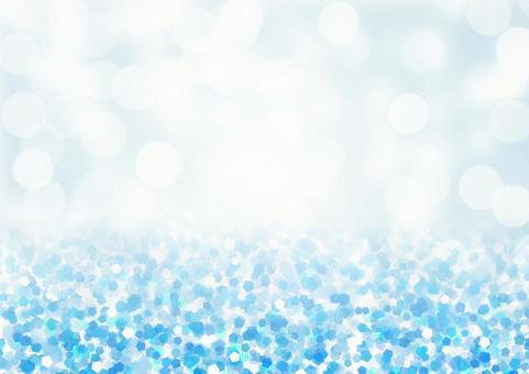 Lame-like pentagon and transparent bokeh background material (light blue)