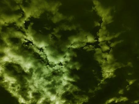 녹색 어두운 하늘