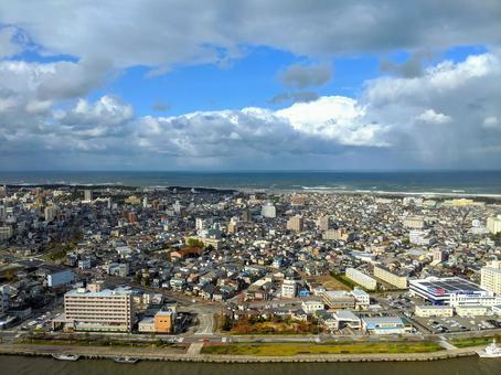 니가타 시내의 풍경