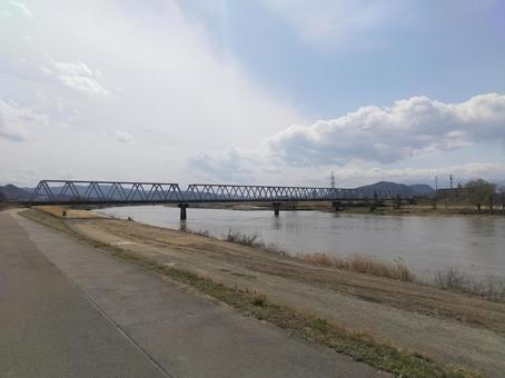 阿武隈川 鉄橋 阿武隈急行線