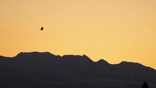 Tateyama mountain range sunrise