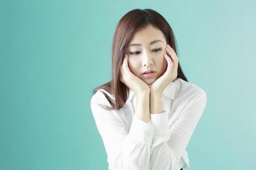 Worried lady 6