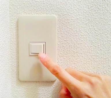 방의 전기 스위치를 ON OFF 손가락 0218