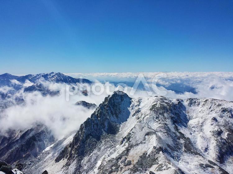 山頂から見る 絶景の雲海テクスチャ 0709の写真