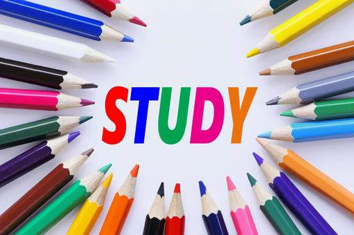 STUDY study color pencil image material