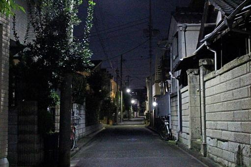 Late night residential area night road 3