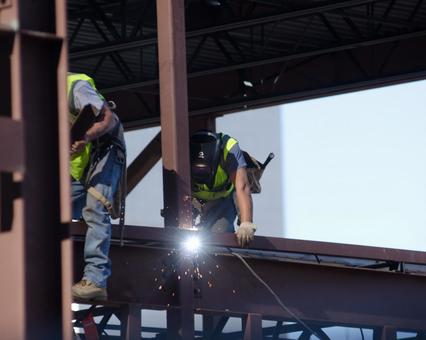 Worker performing construction work 6