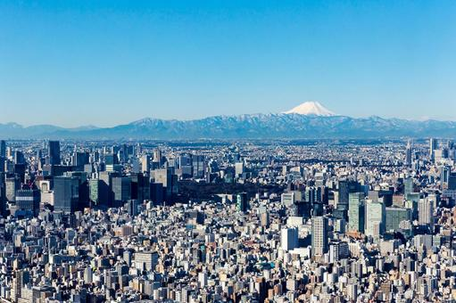Scenery from Tokyo Metropolitan area high altitude