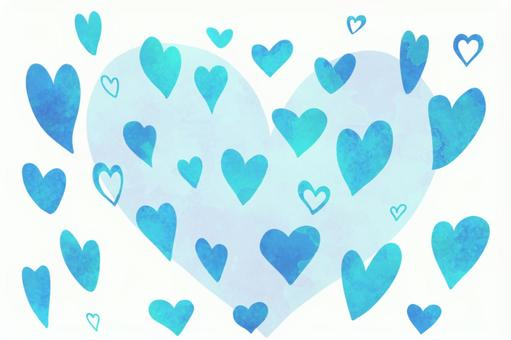 Watercolor style heart set (with PSD)