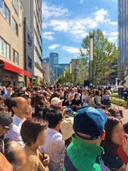 Crowd waiting for Rio parade