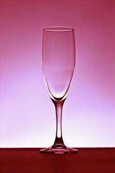 玻璃照片香槟酒杯红色背景