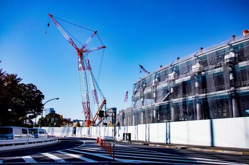 New National Stadium under construction