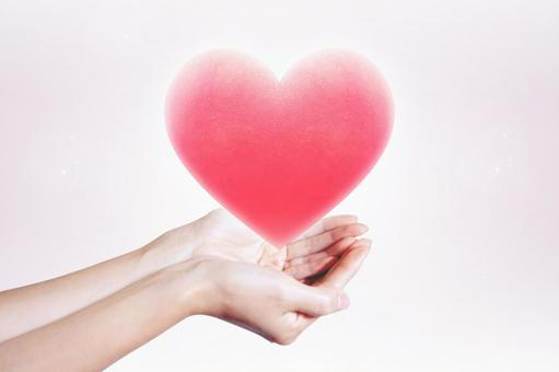 Compassion peach heart