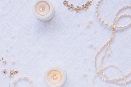 촛불과 진주 프레임