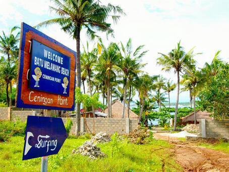 Surf point signboard