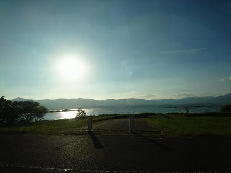 비와호의 西陽