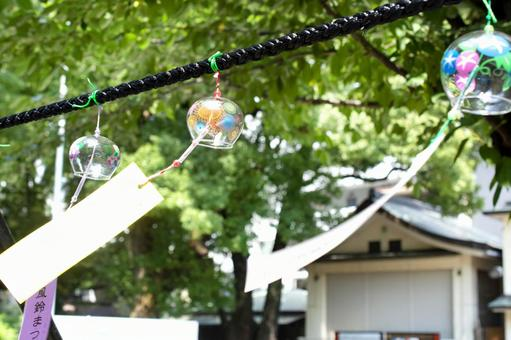 Wind chimes and green