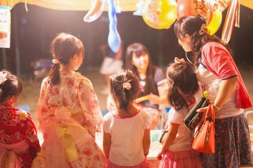 Summer festival ball scooping 3