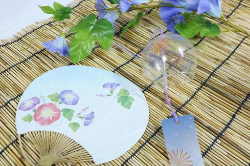 Summer image Wind chair Asagao