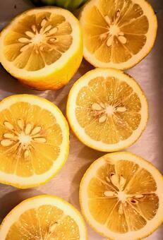 레몬 컷 여러