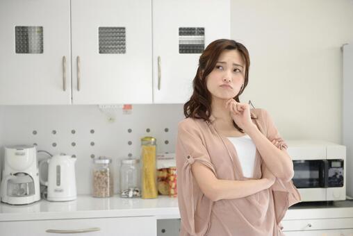 A woman thinking about a menu 10