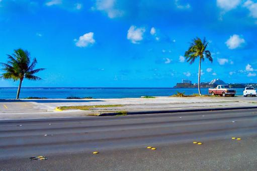 Guam coastline road