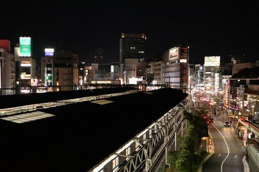 우에노 역 야경