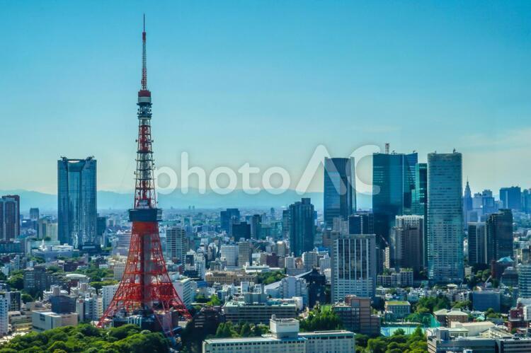 世界貿易センタービル(シーサイドトップ)から見える東京の街並みの写真