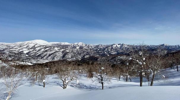 長尾山에서 바라 보는 삿포로 산