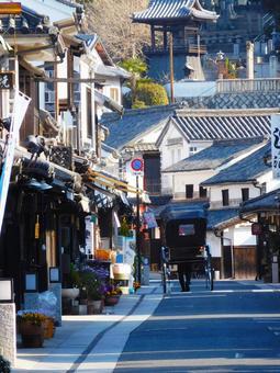 Rickshaw in Kurashiki Aichi district