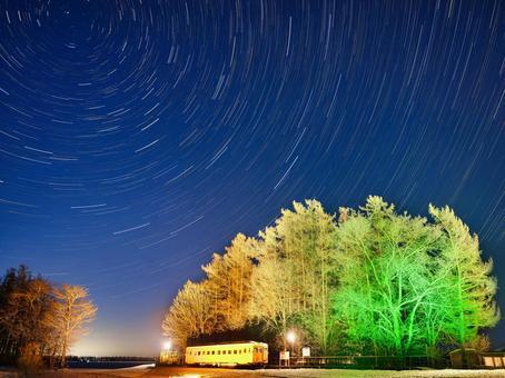 Kofuku station and the trajectory of the stars